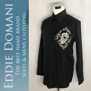 EDDIE DOMANI Collection Dress Shirt Size L
